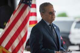State Rep. Rick Miller, R-Sugar Land, at a presser celebrating progress on the Sugar Land 95 Memorial Project in Sugar Land, Monday, June 17, 2019. Gov. Abbott signed a bill Miller authored that would allow Fort Bend County to operate and maintain the cemetery where 95 African American remains were found last year.