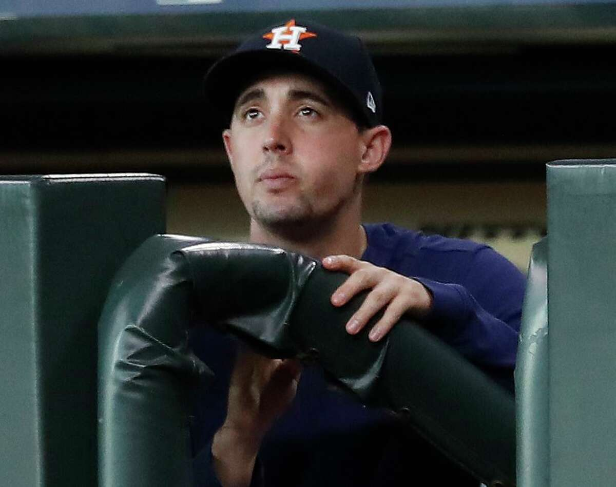 Aaron Sanchez's Astros tenure added up to a mere 182/3 innings after he was acquired in a July trade with the Blue Jays.