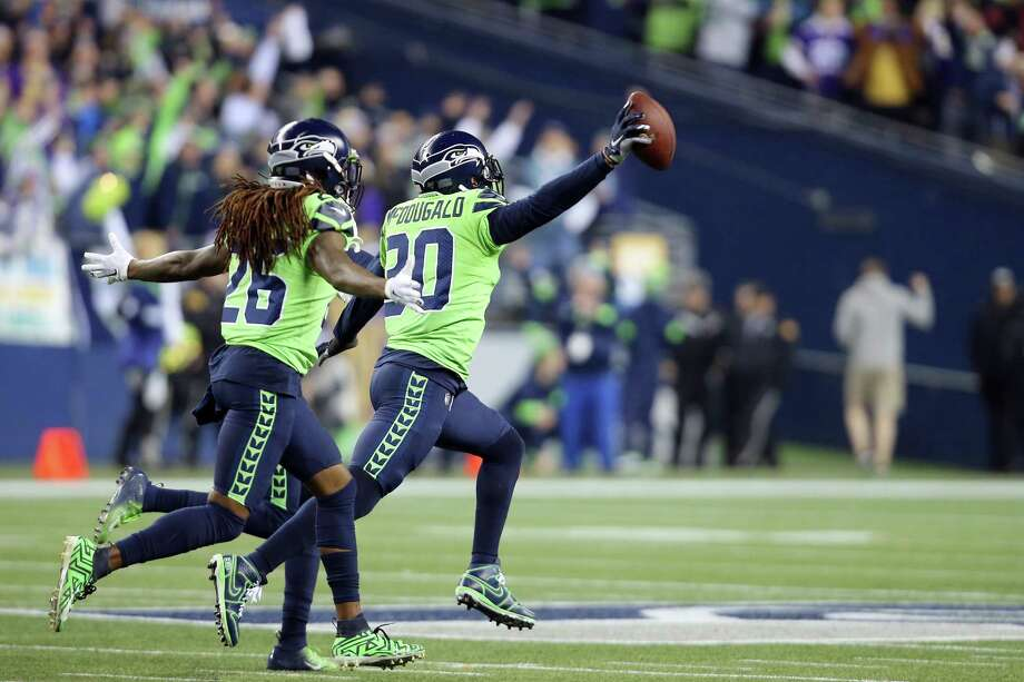 Seattle Seahawks strong safety Bradley McDougald (30) celebrates celebrates his fumble recovery in the fourth quarter of Seattle's game against Minnesota, Monday, Dec. 2, 2019 at CenturyLink Field. Photo: Genna Martin, Seattlepi.com / GENNA MARTIN