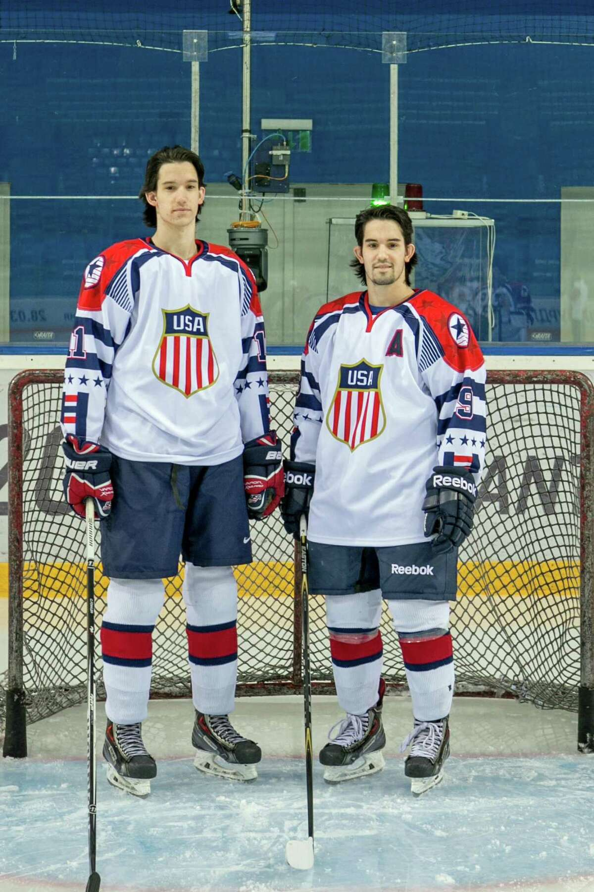 Garrett and Peter Gintoli, left to right, also won bronze medals with the U.S. ice hockey team at the 2015 Winter Deaflympics.