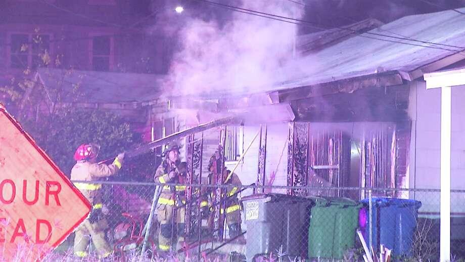 San Antonio Fire battled a late night blaze Monday. Photo: Ken Branca