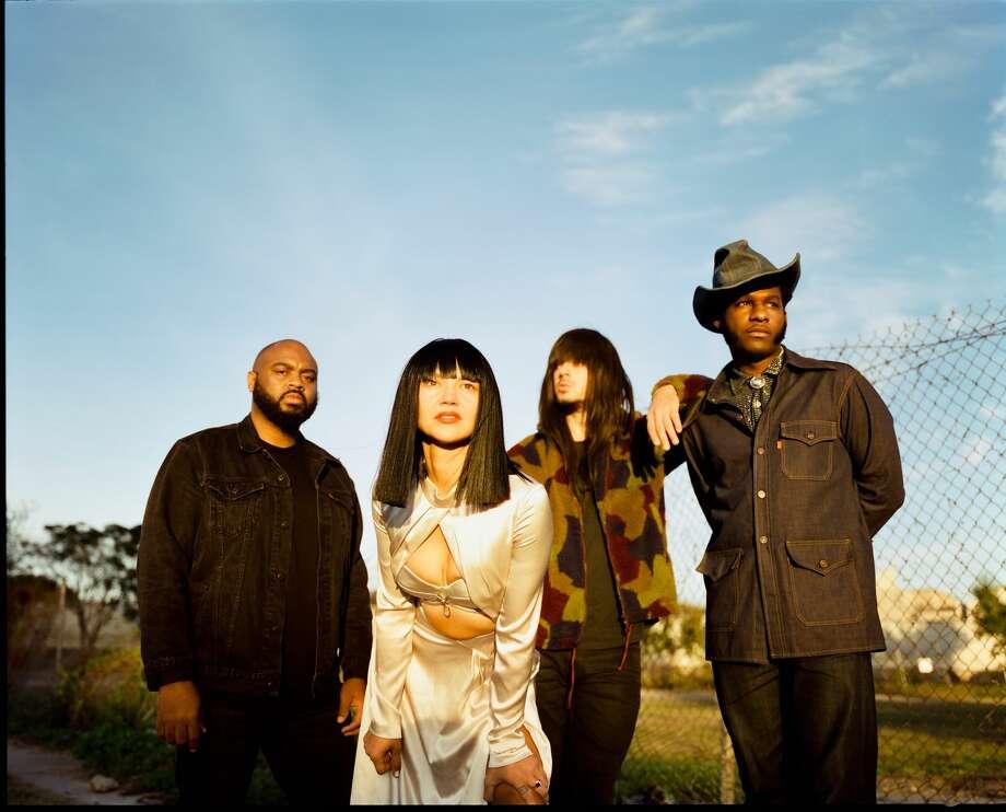 "Khruangbin and Leon Bridges collaborated on ""Texas Sun,"" an EP due in Feb. 2020. Photo: Dead Oceans/Columbia"