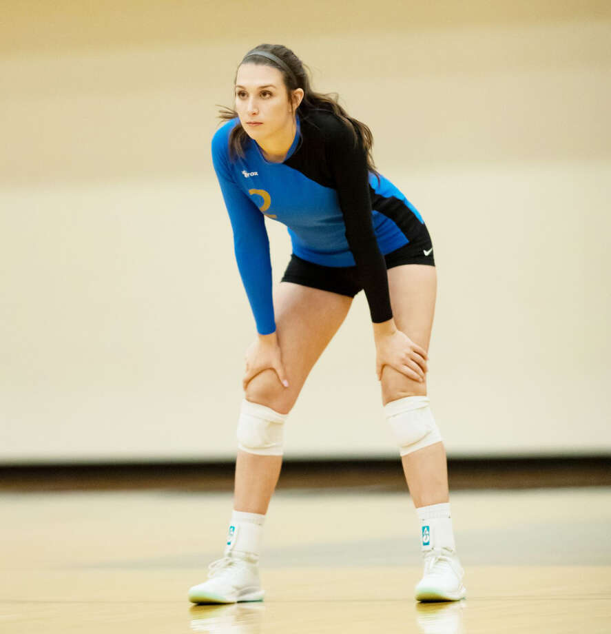 Onekama's Colleen McCarthy capped her prep volleyball career with another All-State accolade, being named on the third team for Division 4. Photo: News Advocate/File Photo