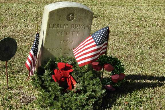 This military veteran's grave was marked with a wreath last year at Fairview Cemetery in League City through Wreaths Across America. This year, National Wreaths Across America Day will be celebrated at 11 a.m. Dec. 14 at the cemetery, 901 N. Kansas.