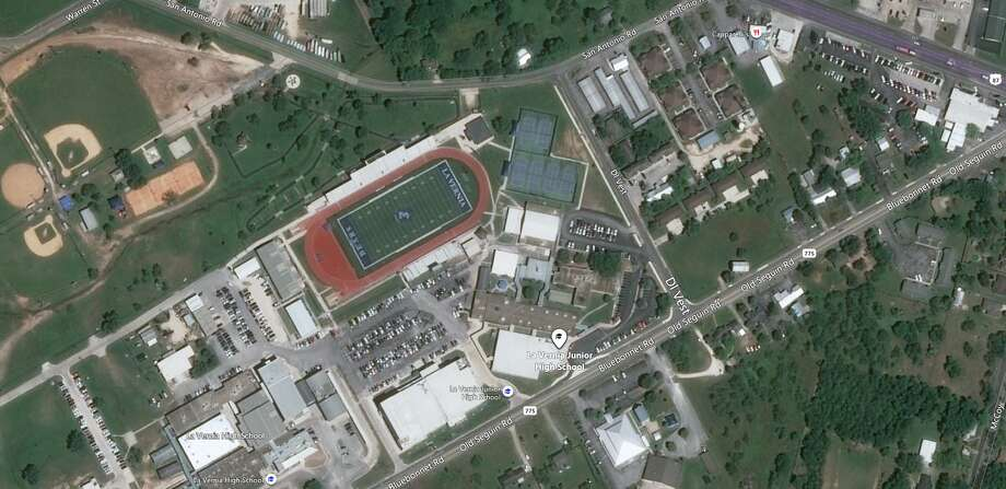 A La Vernia Junior High School teacher has been fired after the district said he was sending inappropriate texts to a student. Photo: Bing Maps
