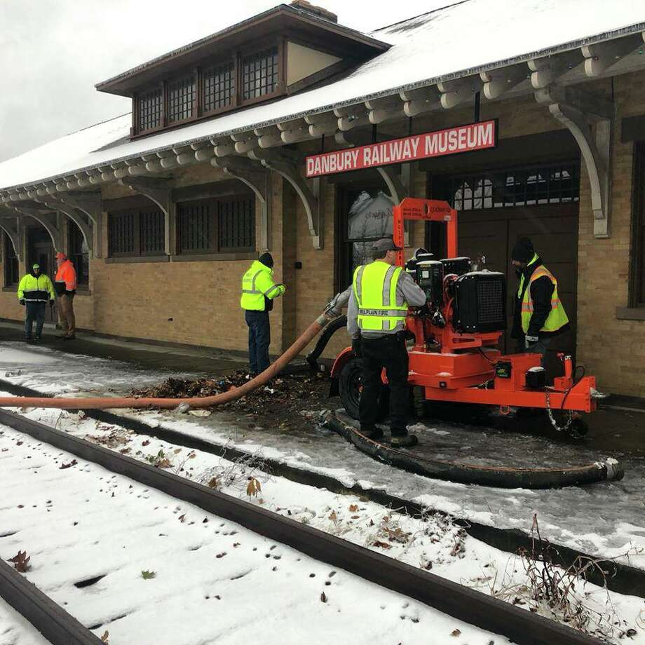 The Danbury Railway Museum's basement was flooded with seven feet of water on Monday, Dec. 2, 2019. Photo: Contributed Photo/Danbury Railway Museum Facebook / Contributed / The News-Times Contributed