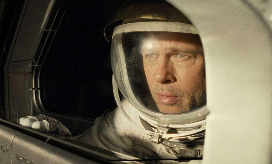 "Brad Pitt stares into the void in ""Ad Astra."" Photo: Twentieth Century Fox / TNS"
