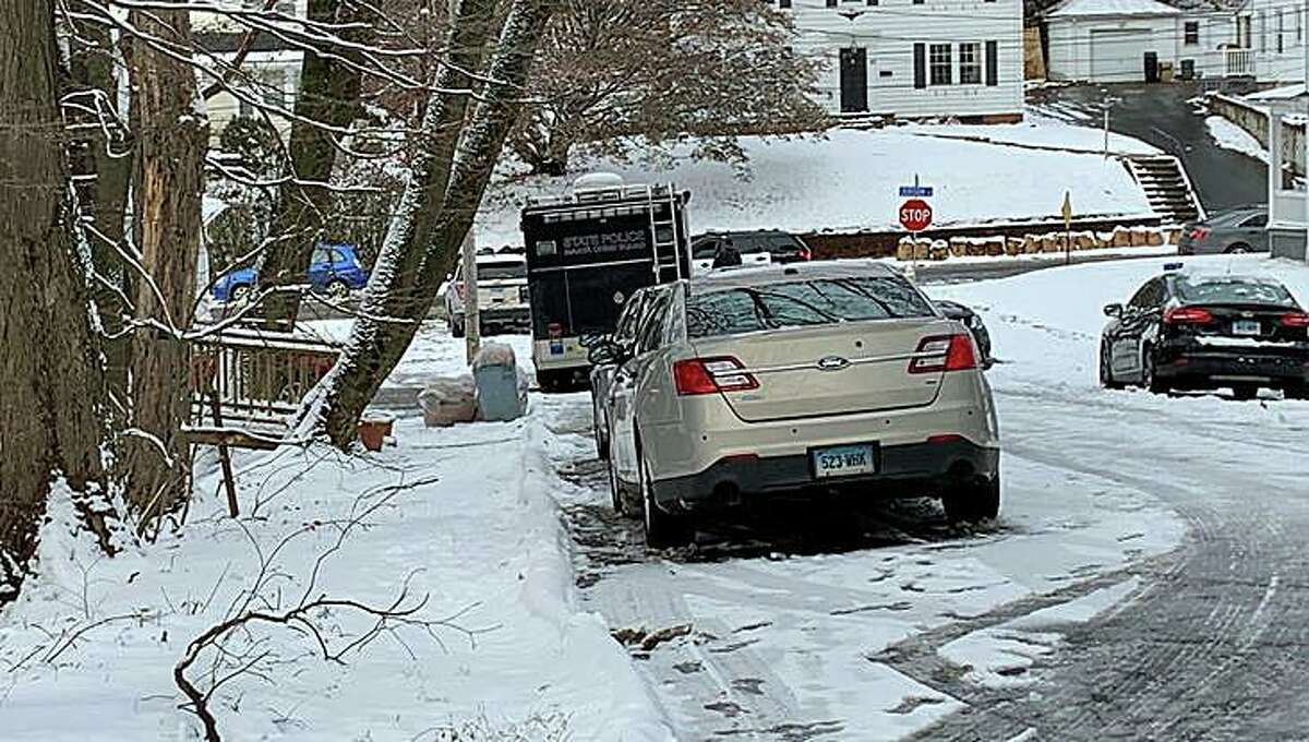 Ansonia police and State Police have blocked a section of Myrtle Avenue between West Street and Judson Place in Ansonia as a homicide investigation continues on Tuesday, Dec. 3, 2019.
