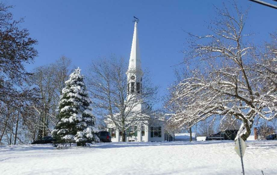 A bell ring with five churches in New Canaan took place on Friday, March 13, 2020. This included The Congregational Church of New Canaan. Photo: New Canaan Advertiser