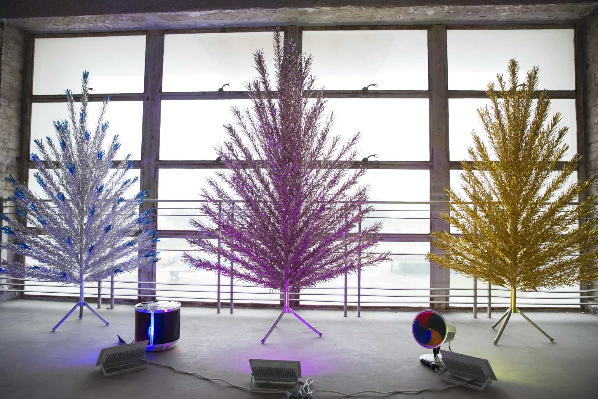 Aluminum trees sparkle in 'Space Age Christmas Trees' at ...
