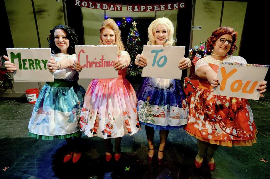 "From left, Lara Strawther,  Lydia Seay, Genevieve Brassard and Lauren Millner - Sanchez rehearse for the Beaumont Community Players' upcoming Christmas musical production ""The Winter Wonderettes,"" which runs for three weeks at the Betty Greenberg Center for Performing Arts.