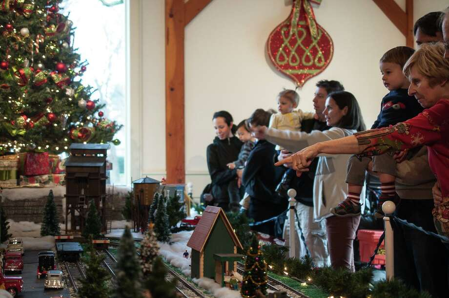 Visitors at the Holiday Express Train Show. Photo: Contributed Photo