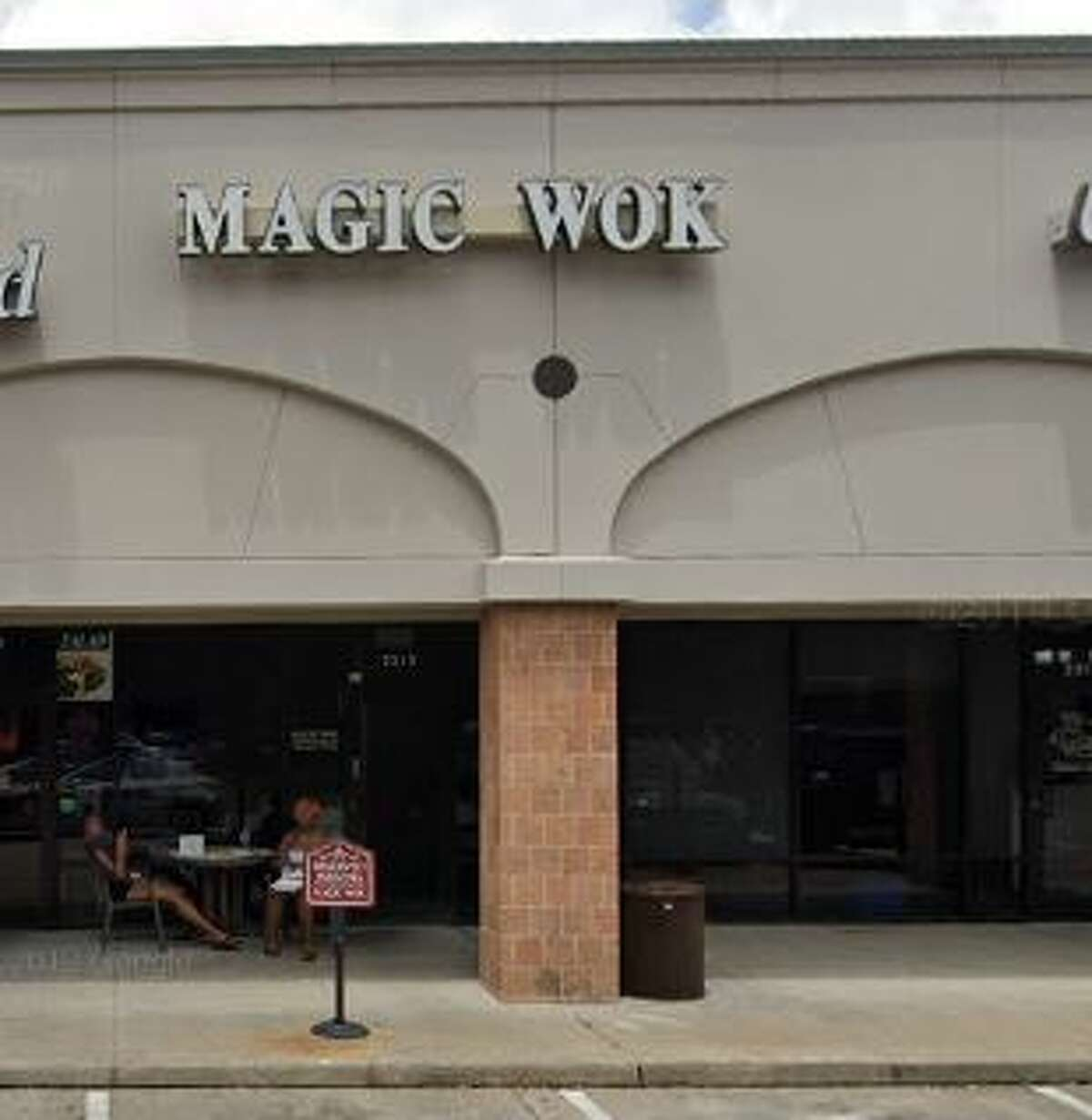 Magic Wok 2513 Bagby Demerits: 25Inspection highlights: Observed three live roaches and one dead roach in the gaskets of the reach-in freezer. Observed raw chicken stored above soy sauce; properly store foods in a manner to prevent potential contamination.