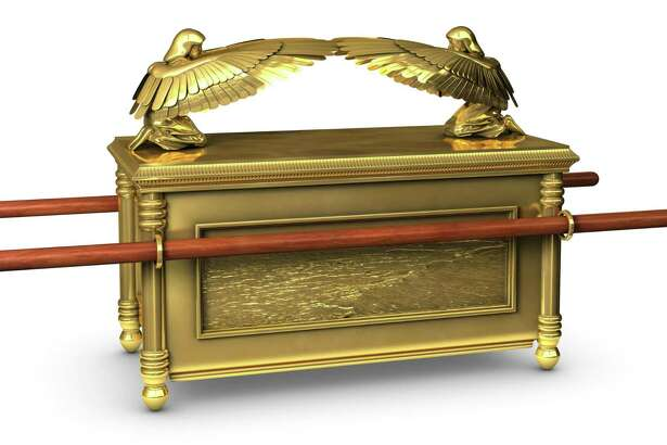 The legendary ark of the covenant from the Bible.