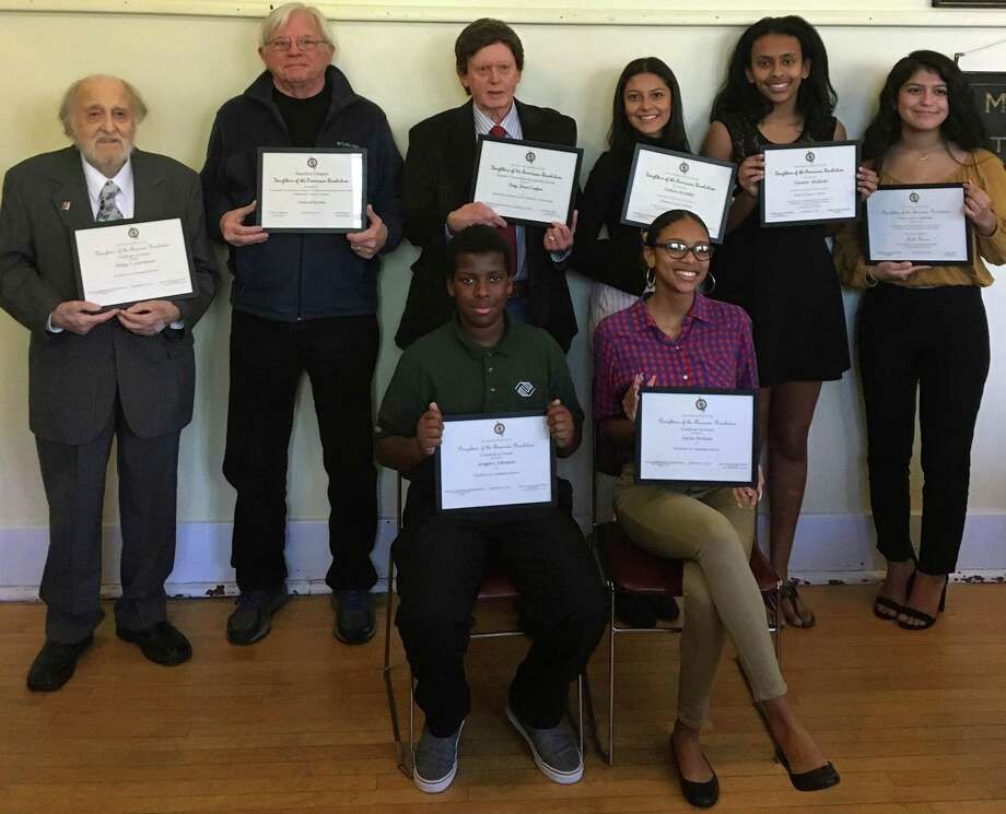 Students, veterans and volunteers were honored at an award ceremony at the Stamford History Center on Nov. 23. Photo: Contributed / Contributed Photo / Westport News contributed
