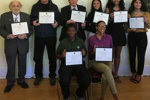 Students, veterans and volunteers were honored at an award ceremony at the Stamford History Center on Nov. 23.