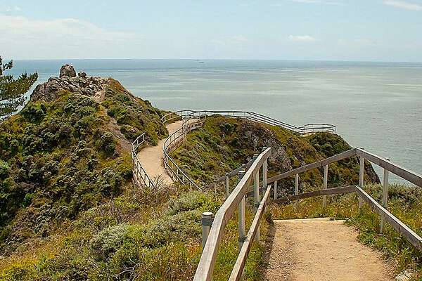 The Muir Beach Overlook provides a spectacular lookout along the Marin Coast and out to sea