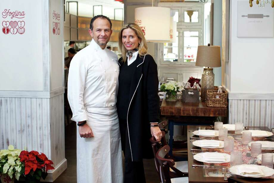 Fabio and Maria Trabocchi in the dining room of Sfoglina in Van Ness. Photo: Photo By Deb Lindsey For The Washington Post. / For The Washington Post