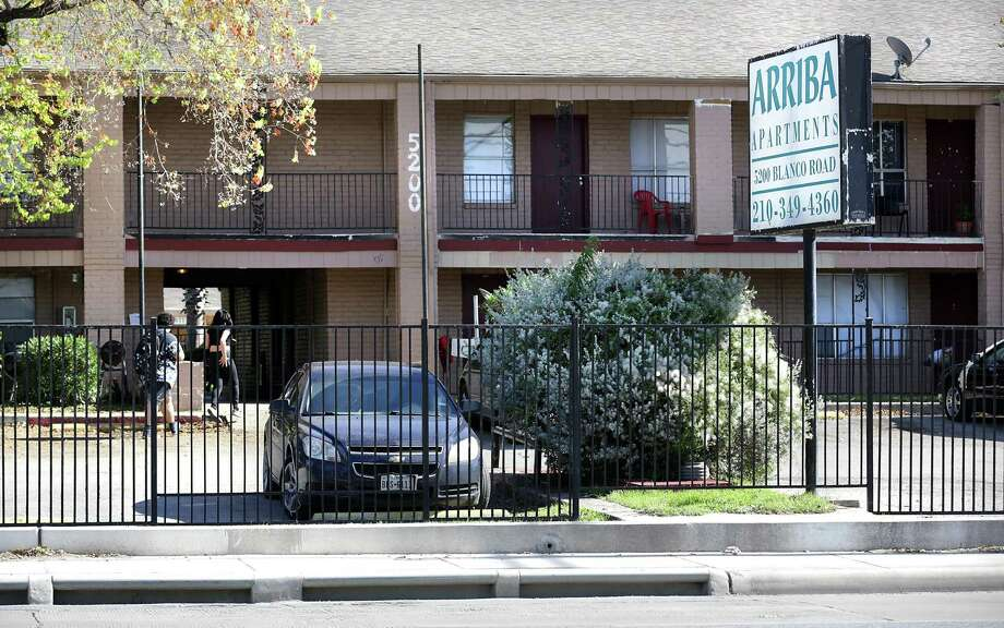 Michael and Gary Petersen were told they were being evicted from their apartment at Arriba En Blanco after they filed multiple complaints with the landlord. The Petersens moved out of the complex, one of 21 owned by the Trif family. Photo: Bob Owen / San Antonio Express-News