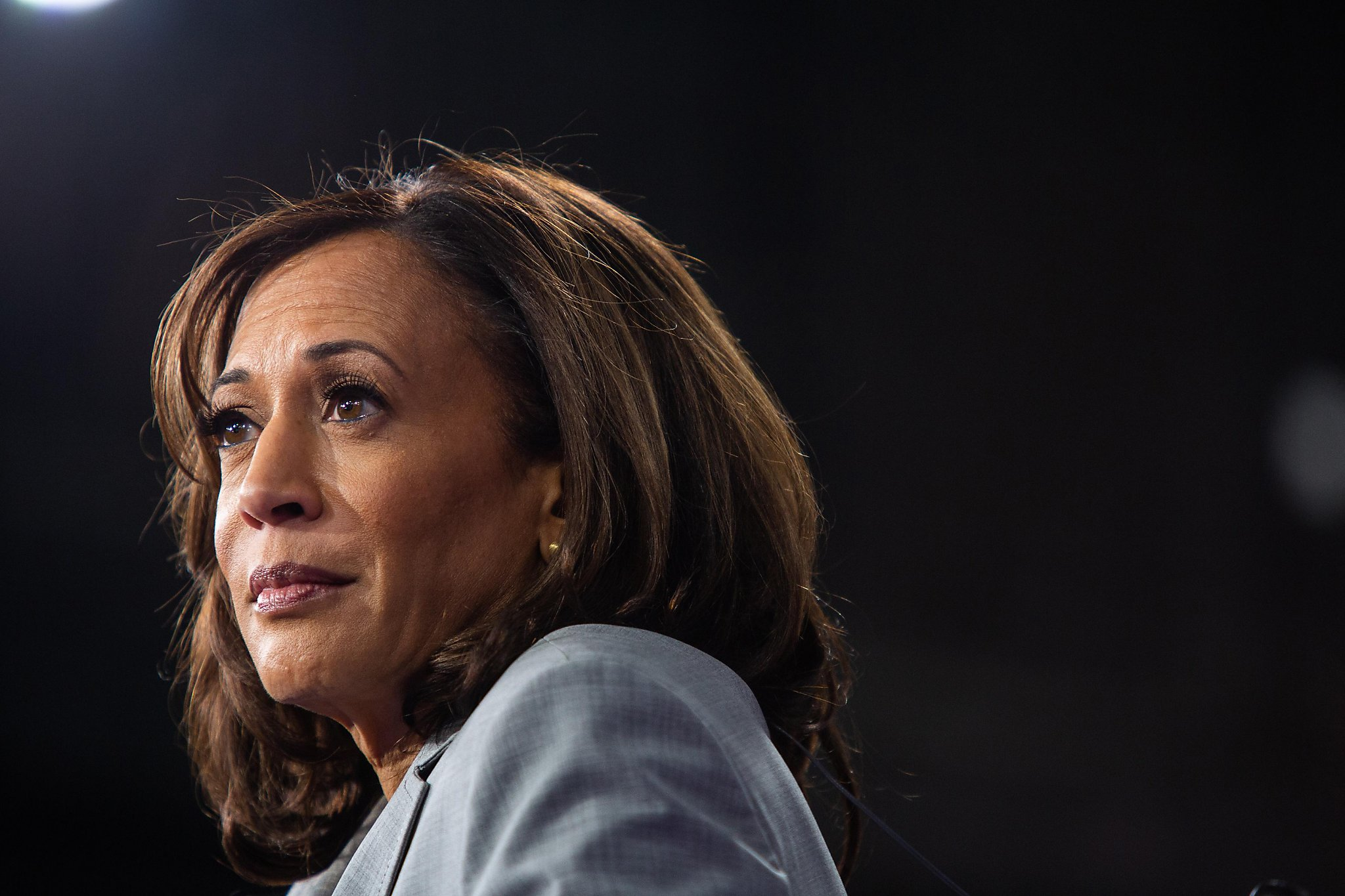 Harris runs out of money, and out...