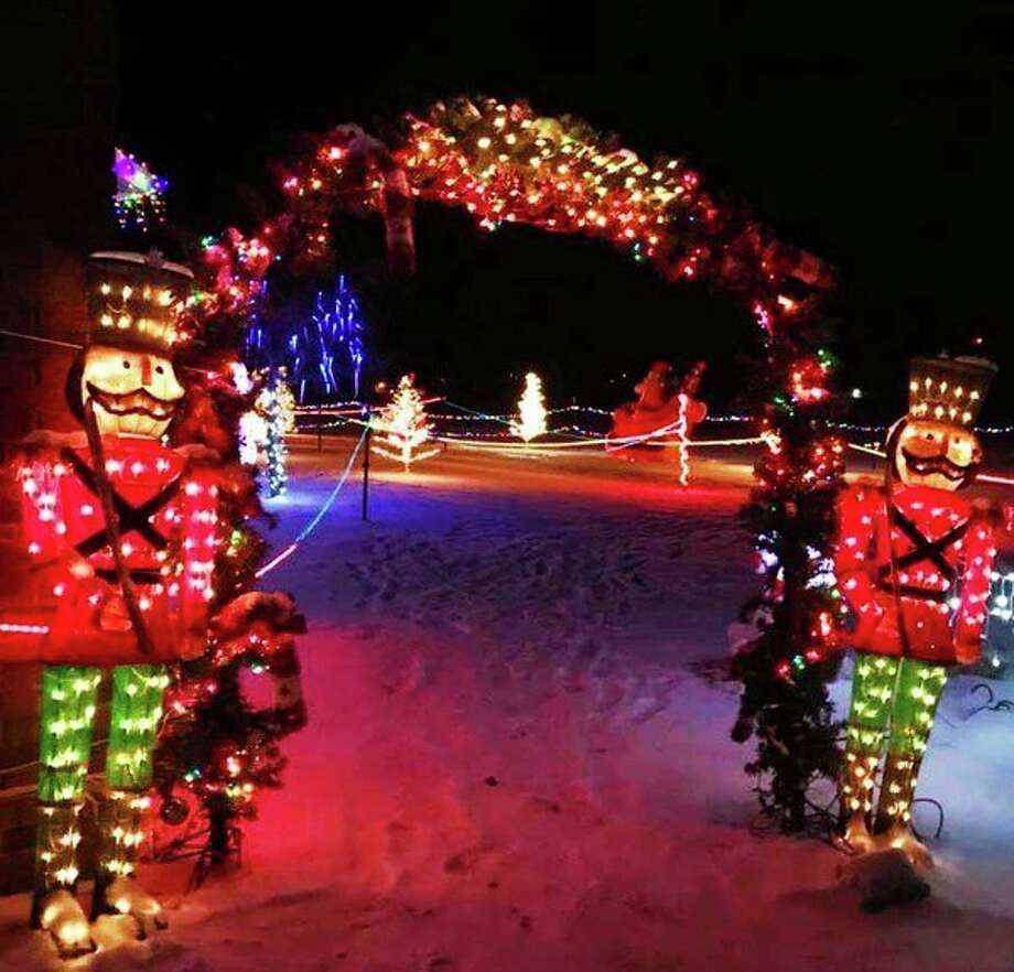Two nutcrackers illuminate the start of the trail. (Kristie Jurgess/Courtesy Photo)