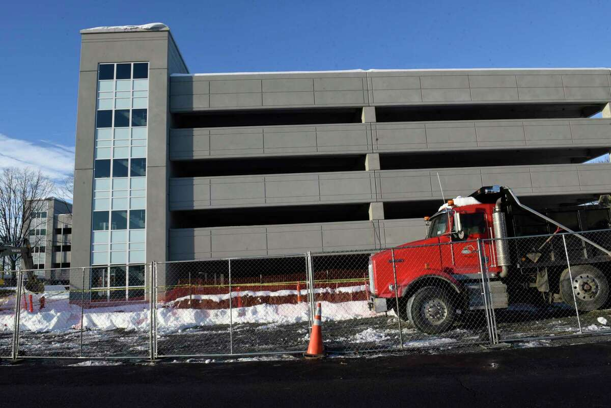 Parking garage across from Regeneron Pharmaceuticals' 10,000-square-foot addition on Tuesday, Nov. 3, 2019 in East Greenbush, N.Y. (Lori Van Buren/Times Union)