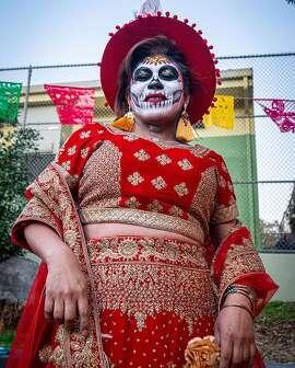 @christophersyu took in Dia De Los Muertos in the Mission District of San Francisco.