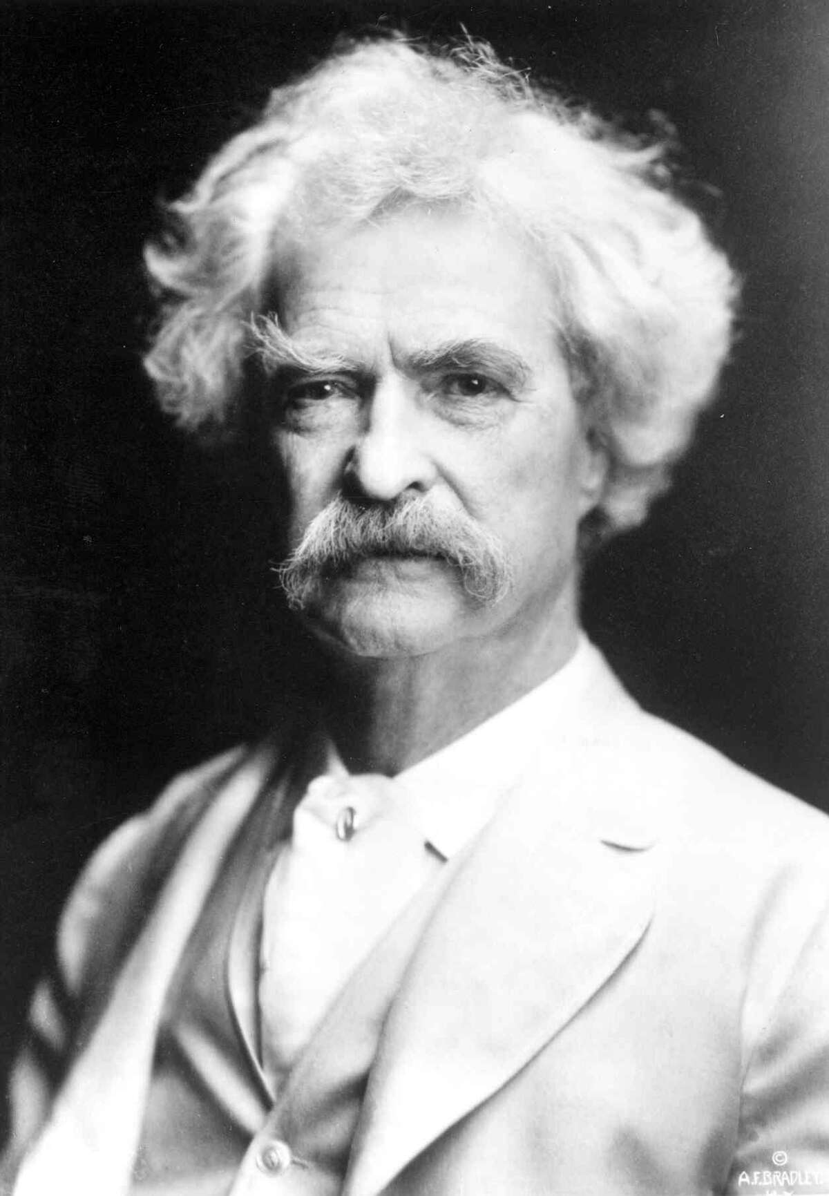 Author Mark Twain, born Samuel Langhorne Clemens, is shown. Twain's funny, insightful observations about the presidents of his day can apply readily to the modern presidency. The topic will be discussed Dec. 7, from 1 to 3 p.m., the Greenwich Library's Flinn Gallery.