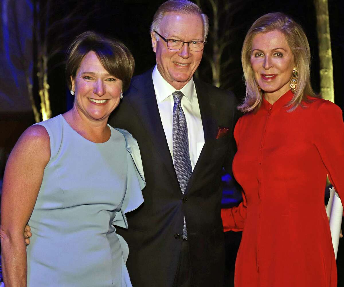 Jenny Hubbard, left, with Chuck and Ellen Scarborough at the 3rd annual gala to benefit the Catherine Violet Hubbard Sanctuary.