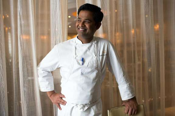 Srijith Gopinathan, executive chef, is photographed at Taj Campton Place in San Francisco Calif., Friday March 27, 2015.