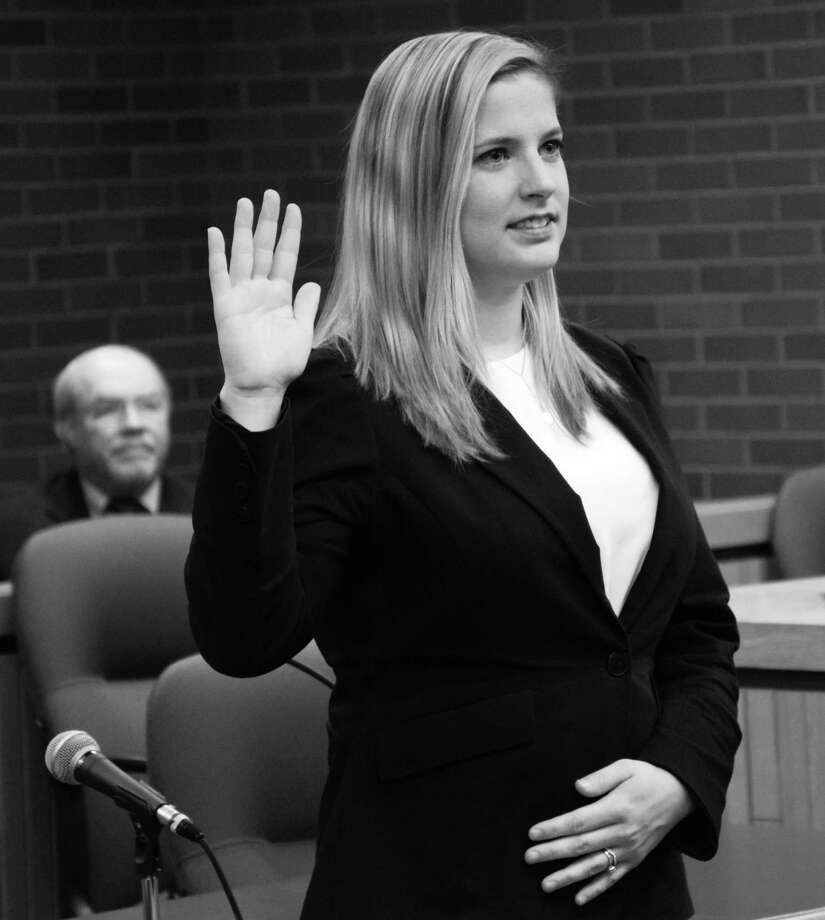 Meghan M. Lyon of New Milford was recently officially sworn in as a lawyer licensed to practice law in the State of Connecticut. Photo: Contributed Photo / Contributed Photo / The News-Times Contributed