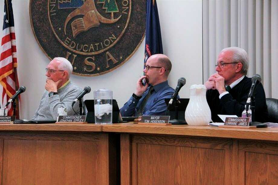 During Monday's city commission meeting, commissionerJonathan Eppley made a motion to table the resolution to accept the$235,000 offer for the former Hanchett property from businessman Jerry Boman, who plans to turn the property into a marijuana grow facility. City commissioner Robert Andrews seconded the motion, and a time limit of 60 days was set for Boman to go back to the planning commission with a new purchase agreement. (Pioneer photo/Alicia Jaimes)