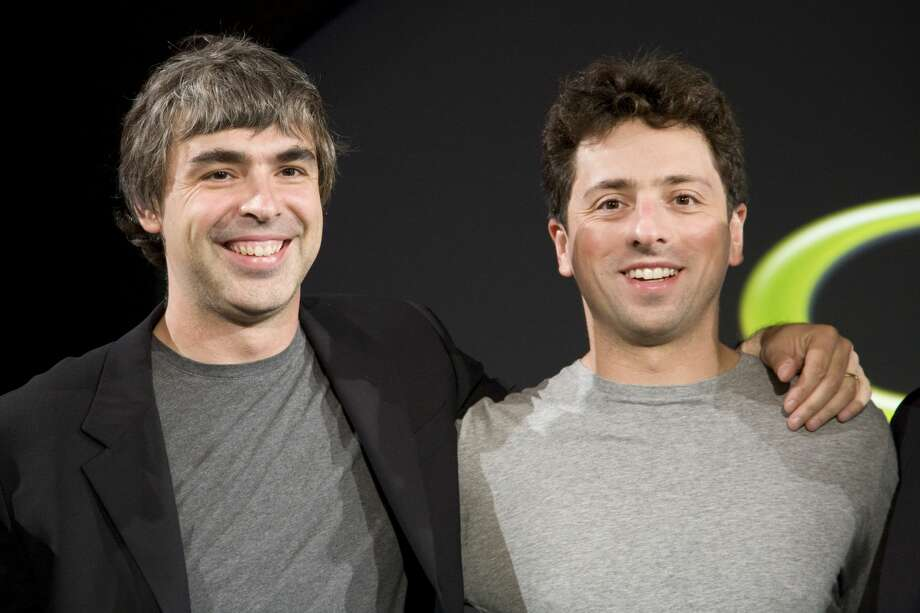 Google co-founders Larry Page and Sergey Brin are stepping down from their roles within the parent company, Alphabet. Photo: James Leynse/Corbis Via Getty Images