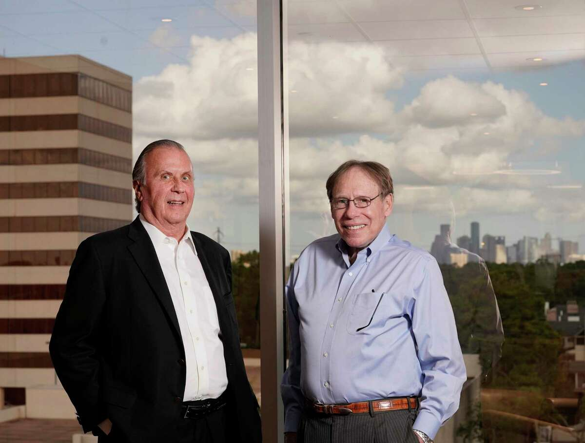 Dan Moody Jr., co-founder and principal, left, and Howard Rambin III, co-founder and principal, right, are shown at Moody Rambin, 1455 West Loop South, Thursday, Oct. 10, 2019, in Houston.