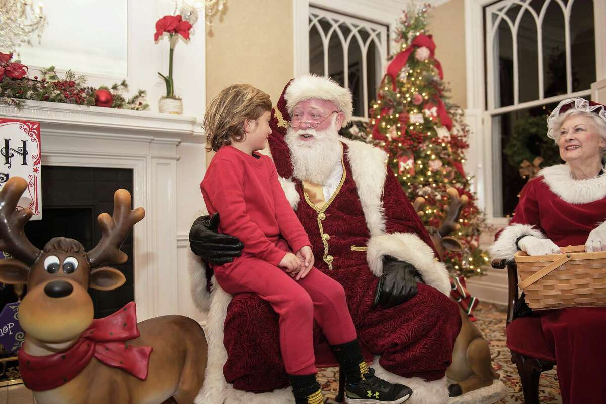Jo Jo Gallo, 5, of Ridgefield chats with Santa at the Lounsbury House during the annual Holiday tree-lighting on Friday, Nov. 29, 2019 in Ridgefield Conn. Jo Jo Gallo, 5, of Ridgefield chats with Santa at the Lounsbury House during the annual Holiday tree-lighting on Friday, Nov. 29, 2019 in Ridgefield Conn.