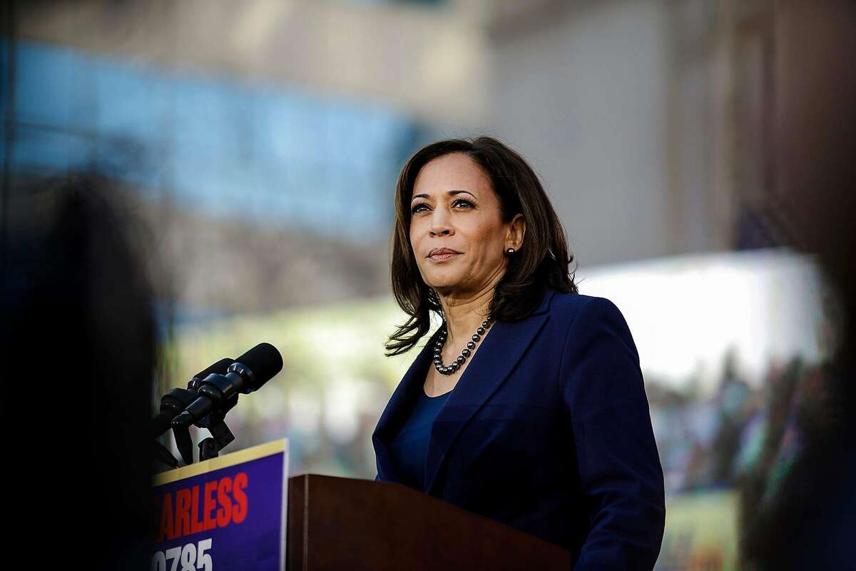 U.S. Sen. Kamala Harris kick starts her presidential campaign at a rally in her hometown of Oakland, Calif., on Jan. 27, 2019.