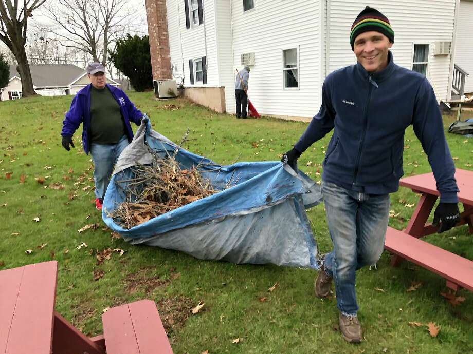 More than 50 students and staff members from Middlesex Community College in Middletown helped clean up seven nonprofit facilities Nov. 22 during the school's day of service. Photo: Contributed Photo