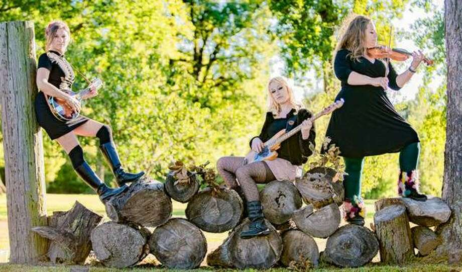 The Dead Roses, from left, Sarah Springman-Shewmake, Mila Raye Duffy and Erin Jo Paddlefoot. The Dead Roses recently booked a tour that includes Kansas City, Missouri, Nashville, Tennessee, and Austin Texas. Photo: Nathan Woodside | The Telegraph For The Telegraph