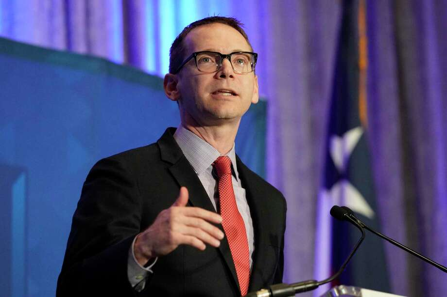 Mike Morath, Texas Education Commissioner, speaks at the Greater Houston Partnership's State of Education   event held at the Hyatt Regency, 1200 Louisiana St.,Monday, Sept. 16, 2019, in Houston. Photo: Melissa Phillip / Melissa Phillip/Staff Photographer / © 2019 Houston Chronicle