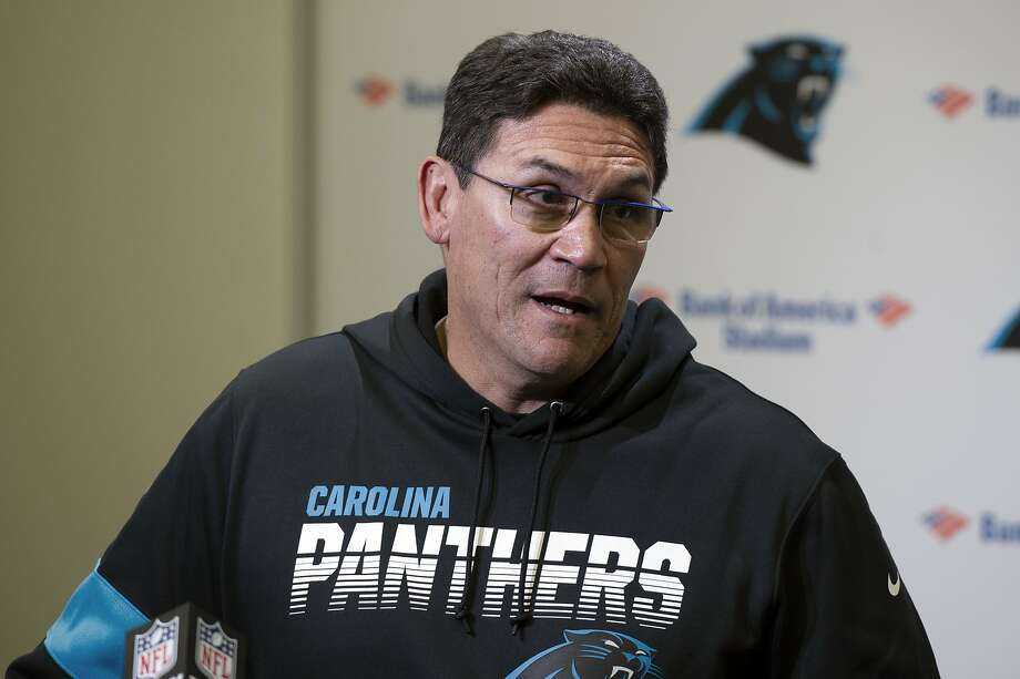 Ron Rivera is the Panthers' all-time winningest coach. Photo: Mike McCarn / Associated Press