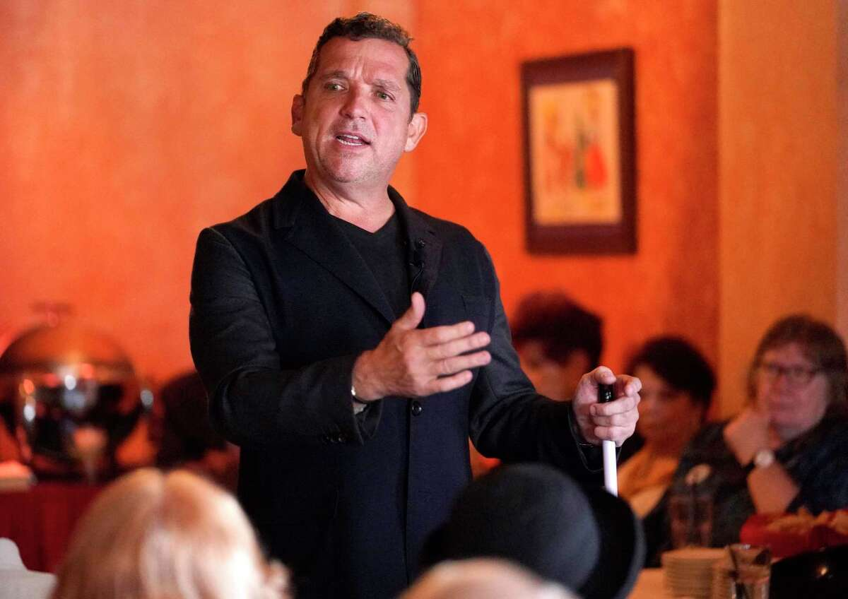 Mayoral candidate Tony Buzbee, pictured at a meet-and-greet event held at Molina's Cantina, Sunday, Sept. 15, 2019, in Houston, has laid out a plan aimed at mitigating future floods in Houston, which he promised to implement within his first 100 days in office.