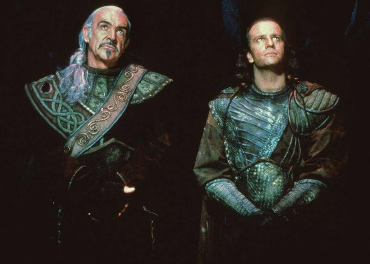 Highlander immortals Christopher Lambert (right) and Sean Connery - in