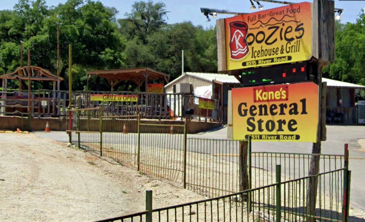 """Companies that own real estate in New Braunfels' """"River Road Entertainment District"""" filed for bankruptcy protection Monday to stop foreclosure sales on the properties. Among the operating businesses in the district are Koozie's Icehouse & Grill and Kane's General Store, which did not file for bankruptcy."""
