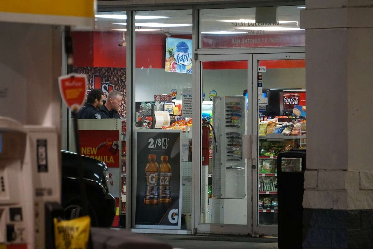 A suspected armed-robber was shot to death by a customer in a Shell gas station Tuesday, Dec. 3, 2019, at 10151 Culebra Road.