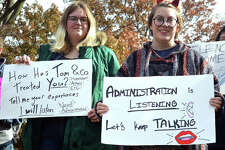 SIUE student protestors have called on the university to ban preacher Tom Rayborn from campus. The students say that Rayborn's weekly sermons on the Quad qualify as hate speech and harassment.