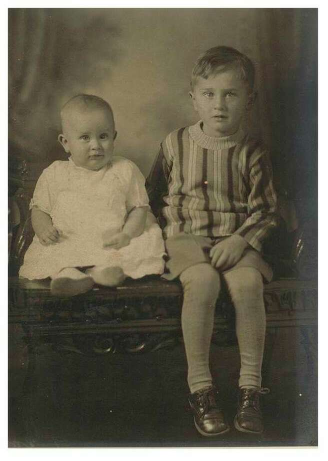 This is Courtney with his baby brother, Dewitt. Always close, nevertheless they were typical boys and Courtney remembers the fights they had growing up.