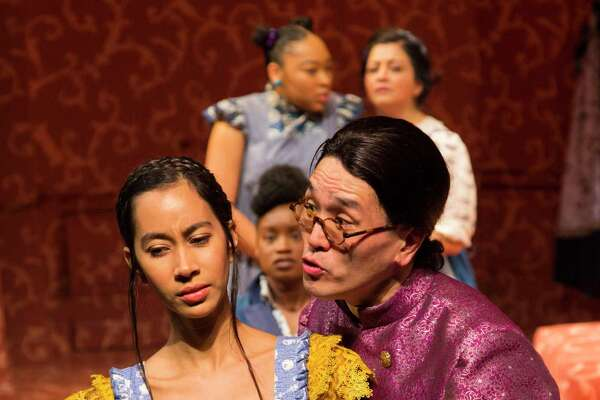 "Octavia Chavez-Richmond and Brian Lee Huynh in ""Pride & Prejudice."""