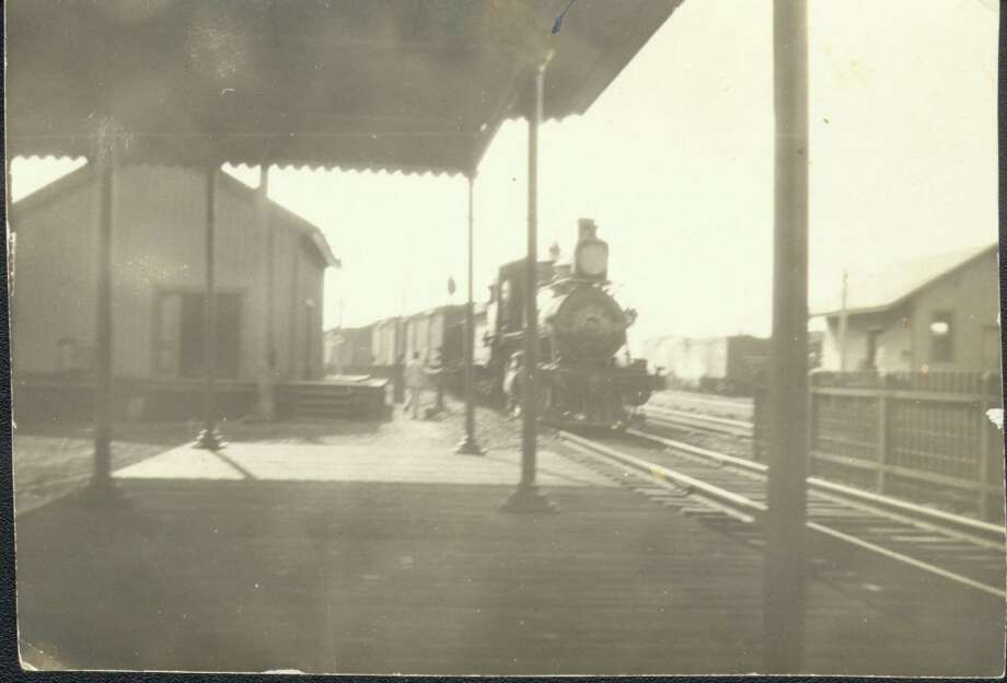 A train arrives at the Fairfield station circa 1900. Photo: Contributed Photo