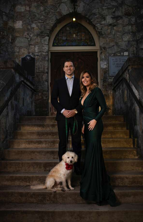 Fox News First morning anchor Breanna Barrs with her fiancé Tyler Pugsley. Photo: Jason Carmony/ J. Allen Photography