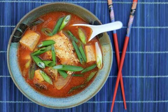 """Kimchi Jjigae (Kimchi-Tofu Stew) from """"Joy of Cooking"""""""